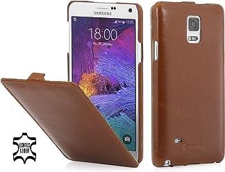 StilGut® UltraSlim Case, custodia in pelle per Samsung Galaxy Note 4, cognac