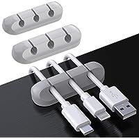 SOULWIT® kabelhållare klämmor, 3-pack kabelhanteringssladd organiseringsklämmor silikon självhäftande för USB…