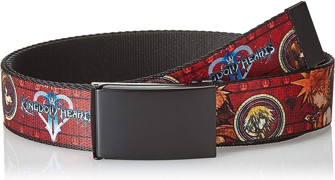 Buckle Down Herren Web Belt Kingdom Hearts Ii 1 5 Gürtel Mehrfarbig 4 Cm Breit 42 Cm Hosen Größe Bekleidung