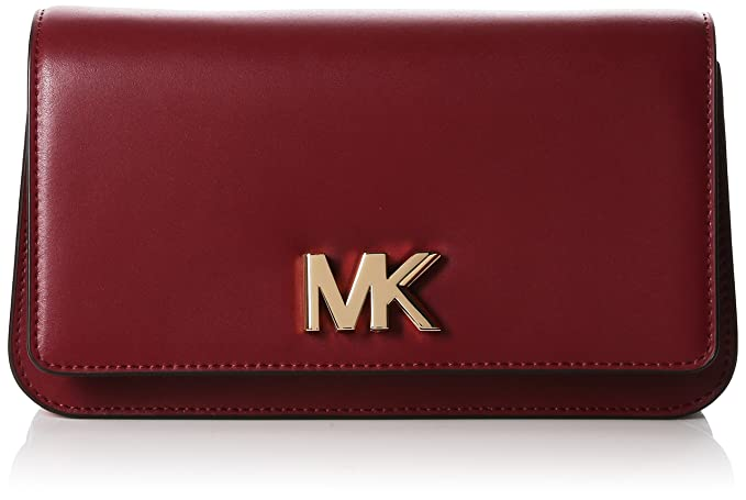 Michael Kors - Mott Large Leather Clutch, Carteras de mano Mujer, Rojo (Mulberry