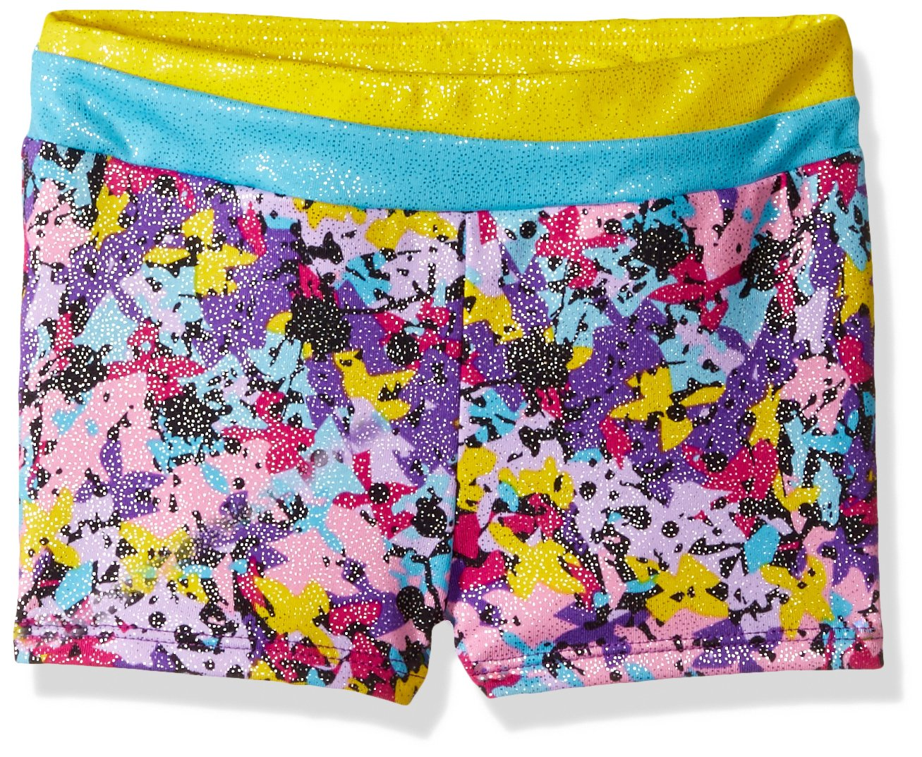 Jacques Moret Little Girls' Gymnastics Micro Short, Multi Purple, Small