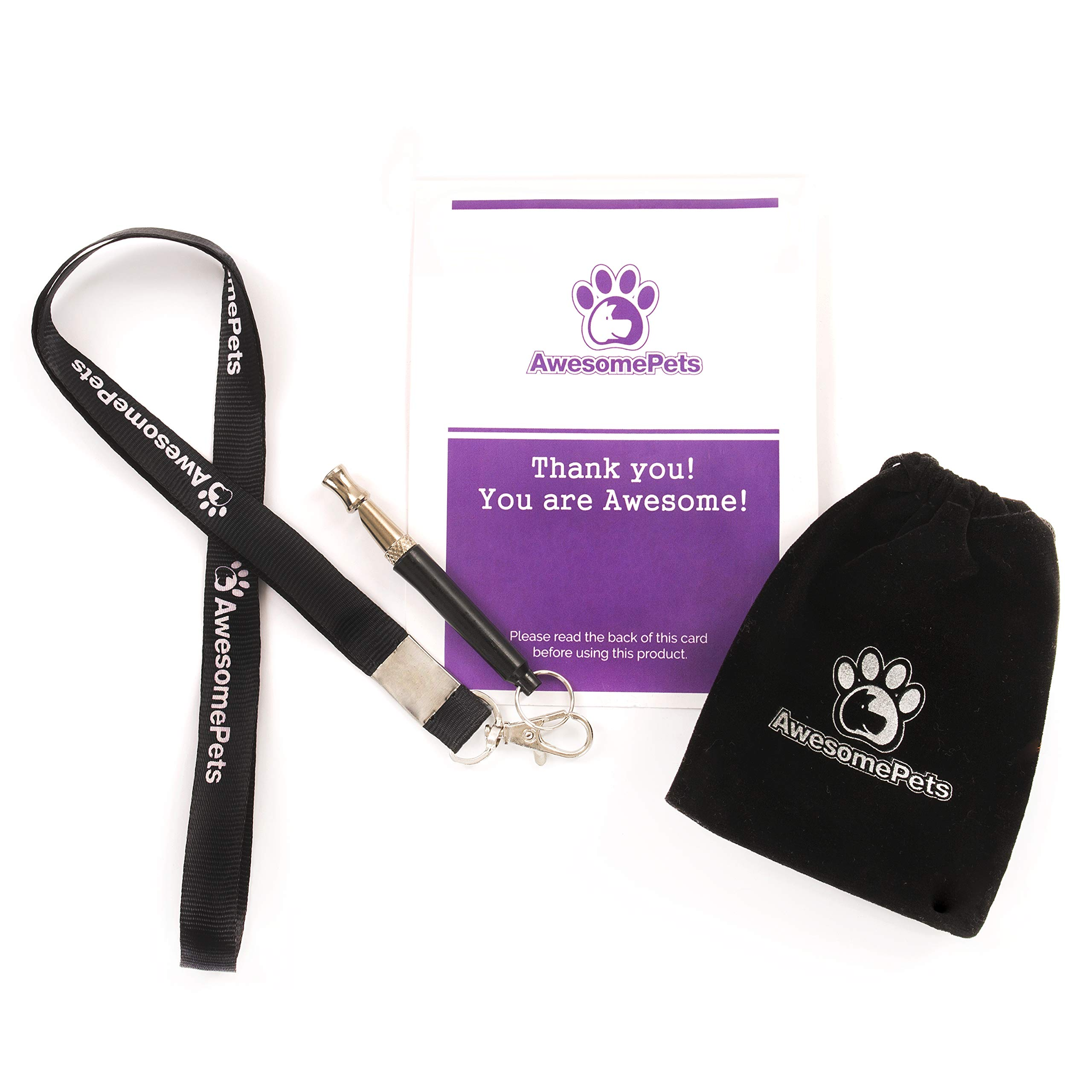 AwesomePets Ultrasonic Sound Training Dog Whistle Used to Control and Stop Barking Pet or Dog, Comes with Lanyard and Adjustable High Pitch Sound Whistle That Can Train Bark of Dogs. by AwesomePets