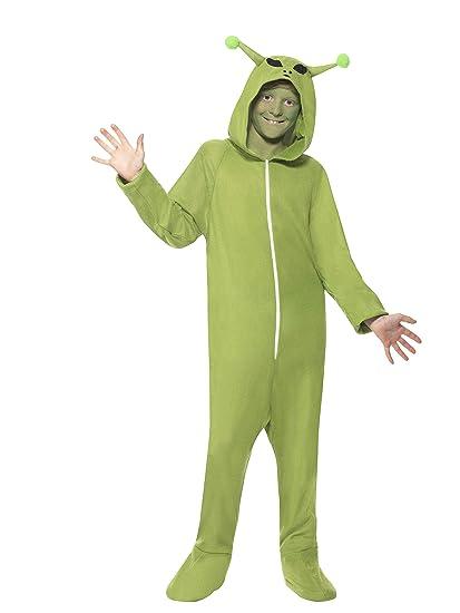 Smiffys Unisex Green Alien (Fancy Dress Costume)