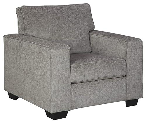 Signature Design by Ashley – Altari Modern Corner Chair, Alloy
