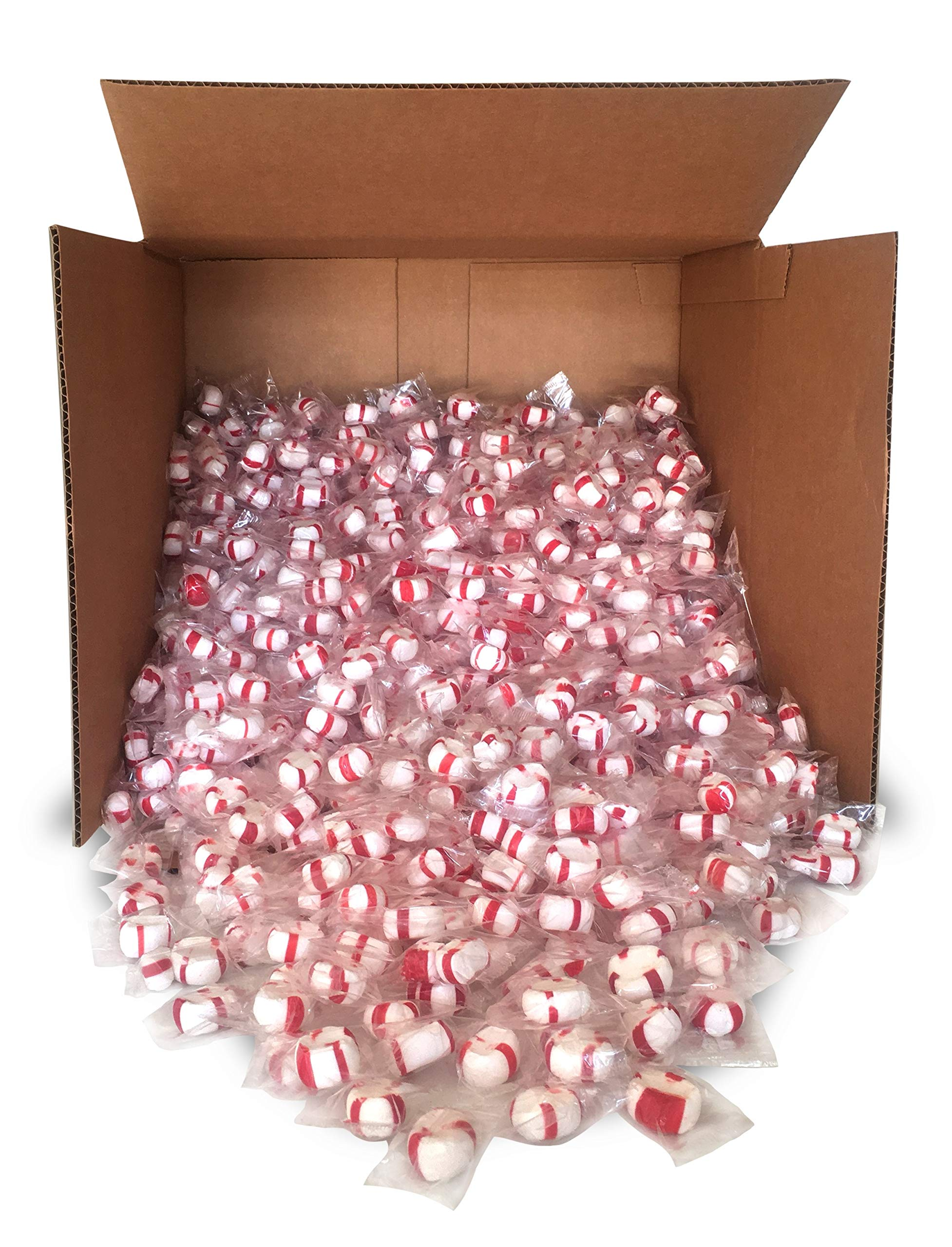 Red Bird Soft Peppermint Puff Candy Bulk, 1000 pieces individually wrapped, made with 100% cane sugar and natural peppermint oil by RED BIRD SOUTHERN REFRESH - MINTS