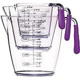 Colourworks Acrylic Measuring Jug Set, Set of 3, Purple