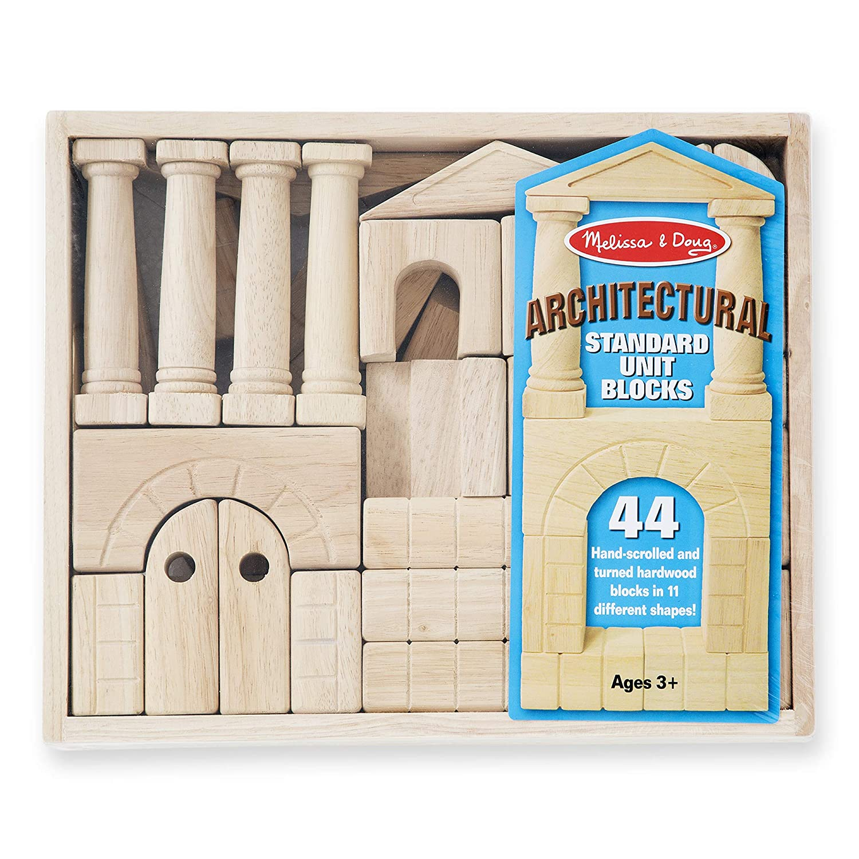 Glückskäfer 26 Piece Colorful Wooden Blocks Construction Bridge FSC//PEFC.