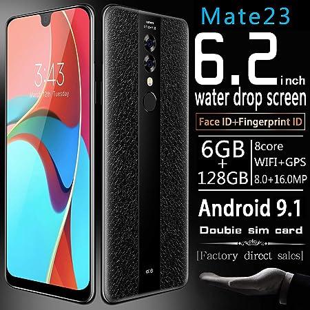 EnweWin Dual 4G Smartphone, 6,2 Pulgadas de Pantalla HD + Gotas de ...