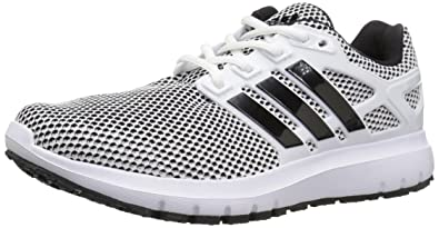 adidas Men's Energy Cloud m Running Shoe, White/Black/Black, 10 Medium