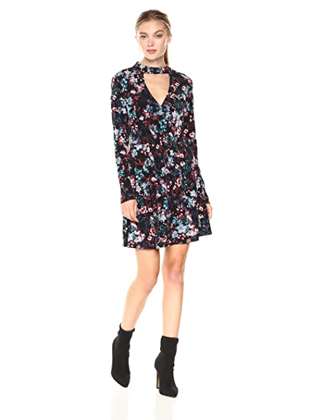 bbacc68d0a1 BCBGeneration Women s Mock Neck Surplice Dress  Amazon.in  Clothing ...