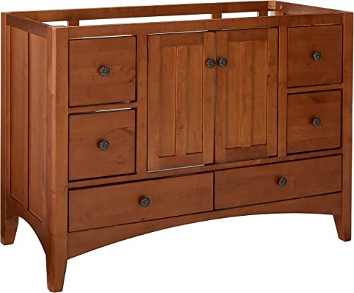 SUNNYWOOD PRODUCTS Expressions 48 Wood Vanity Cabinet Only, Cinnamon Nutmeg,