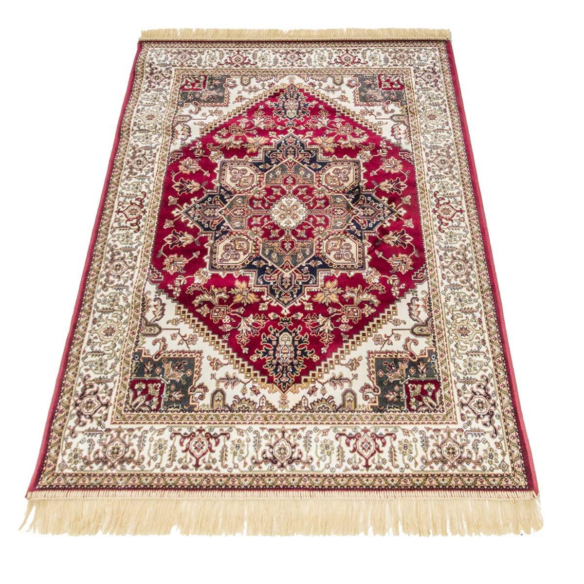 WEBTAPPETI Klassischer Teppich Orient Teppich Heriz RUBINE 304-rosso 2 pz. cm.70x110 + 1 pz. cm. 80x150 rot