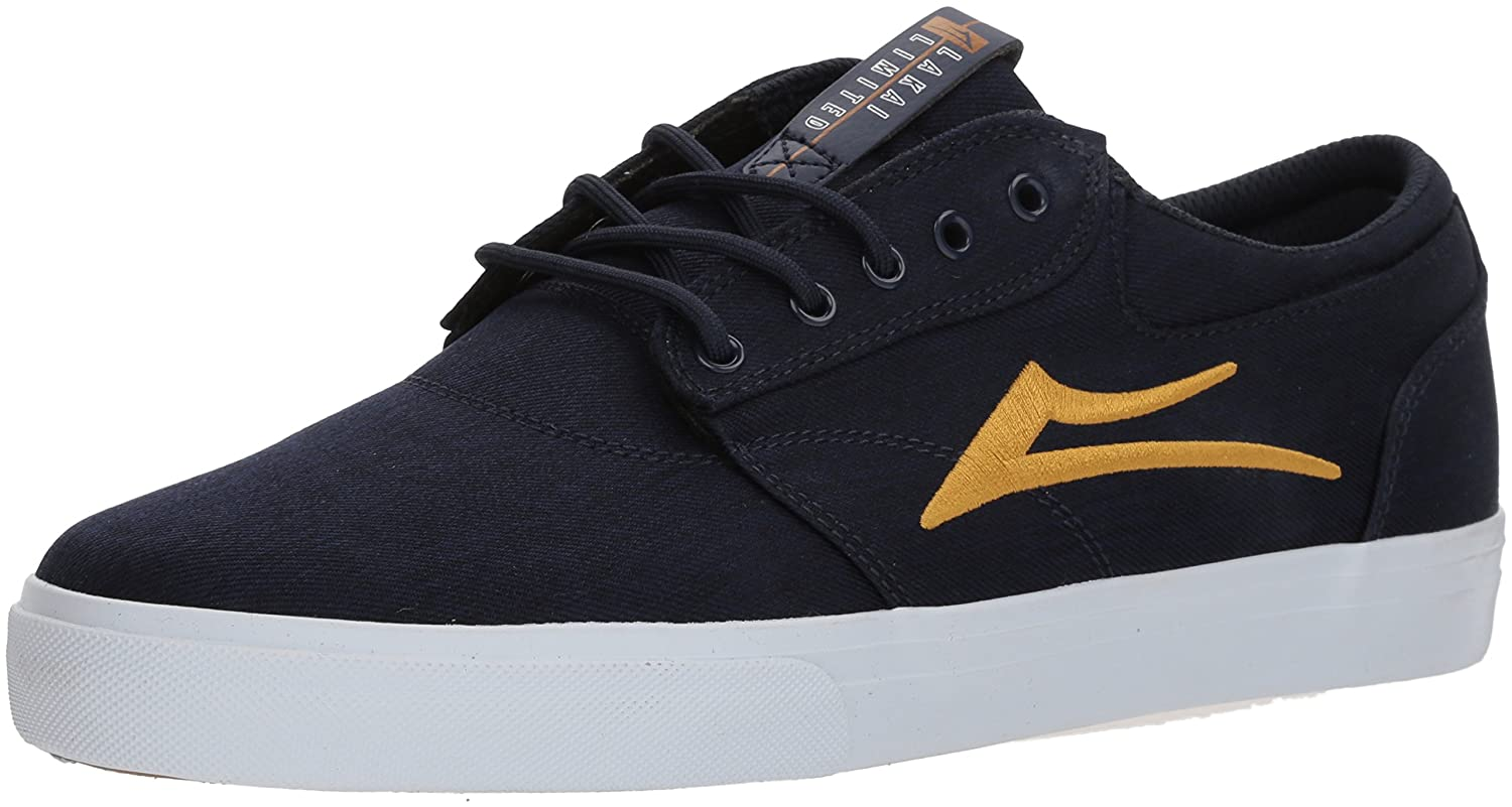 Lakai Griffin Skate Shoe B073SP23FK 9.5 M US|Navy/Gold Textile