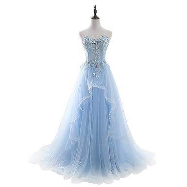 FASHION DRESS Womens 2017 Applique Bridesmaid Long Prom Dresses 2
