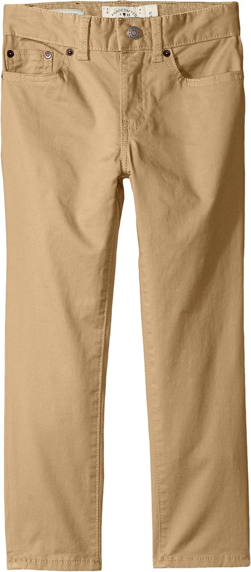 Lucky Brand Toddler Boys' 5 Pocket Stretch Twill Pant, Kelp, 3T