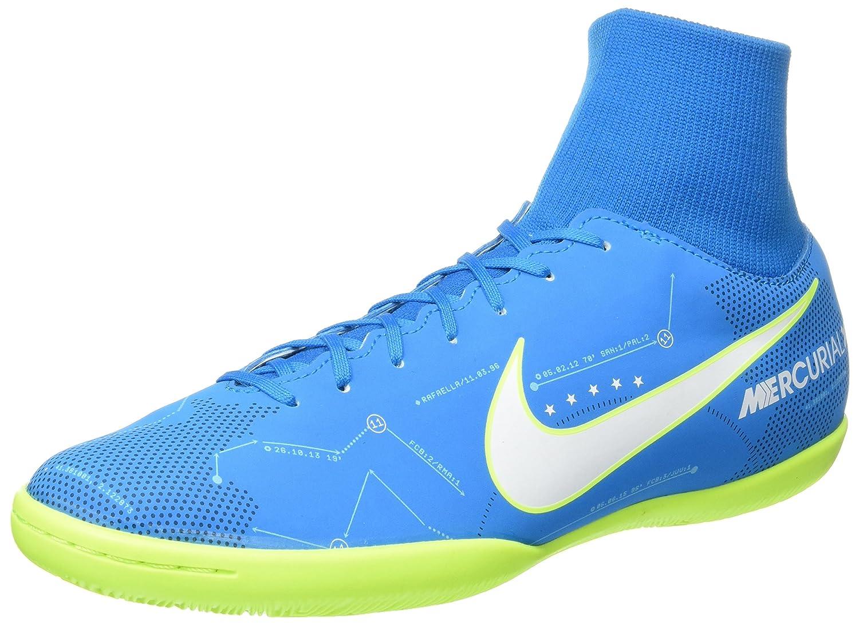 Nike Herren MercurialX Vctry VI DF NJR IC Fuszlig;ballschuhe  45.5 EU T眉rkis (Blue Orbit/White/Armory Navy/Volt)