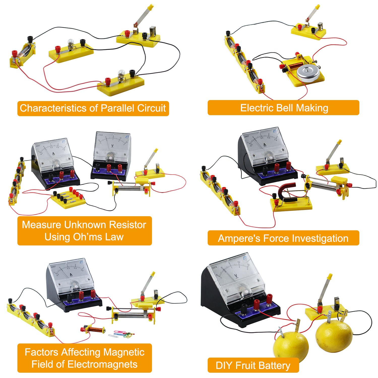 Teenii Stem Physics Science Lab Basic Circuit Learning Discover Circuits Schematics Starter Kit Electricity And Magnetism Experiment For Kids Junior Senior High School