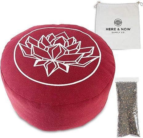 Amazon.com: Cojín de meditación Zafu relleno de casco de ...