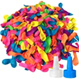 Hibery 1000 Pack Water Balloons with Refill Kits Latex Bomb Fight Games-Summer Splash Fun for Kids and Adults