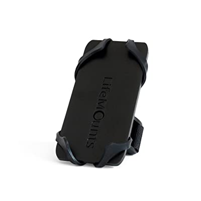 Life Mounts Boat Cell Phone Holder with Patented Weatherproof Flex Mount (Black)