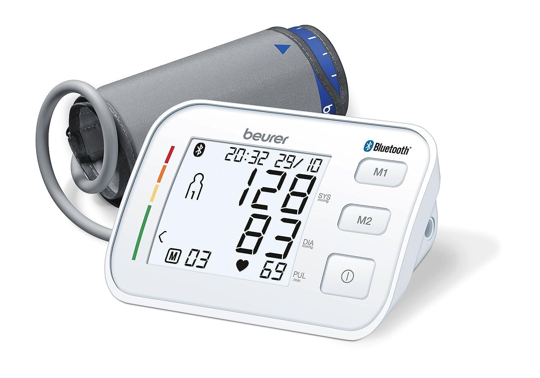 Beurer BM57 - Tensiometro de brazo con bluetooth, color blanco