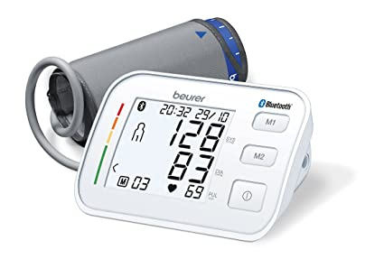 Beurer BM 57 - Tensiometro de brazo con bluetooth, color blanco