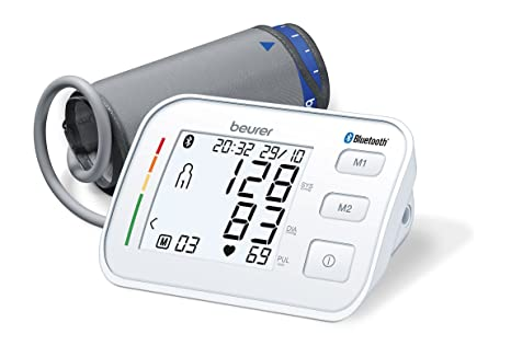 Beurer BM57 - Tensiometro de brazo con bluetooth, color blanco