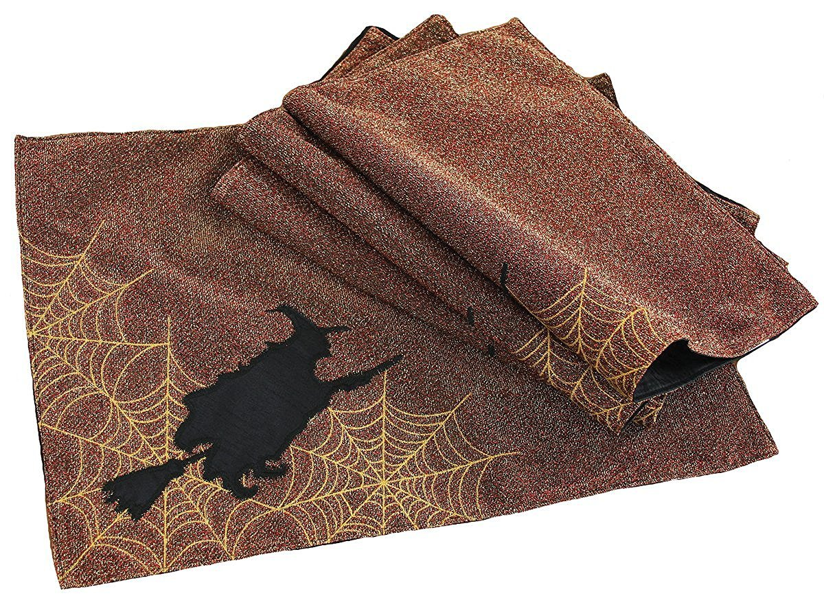 Xia Home Fashions Witching Hour Halloween Placemats, 13 by 18', Candy Corn [並行輸入品]   B01LZZYSD0