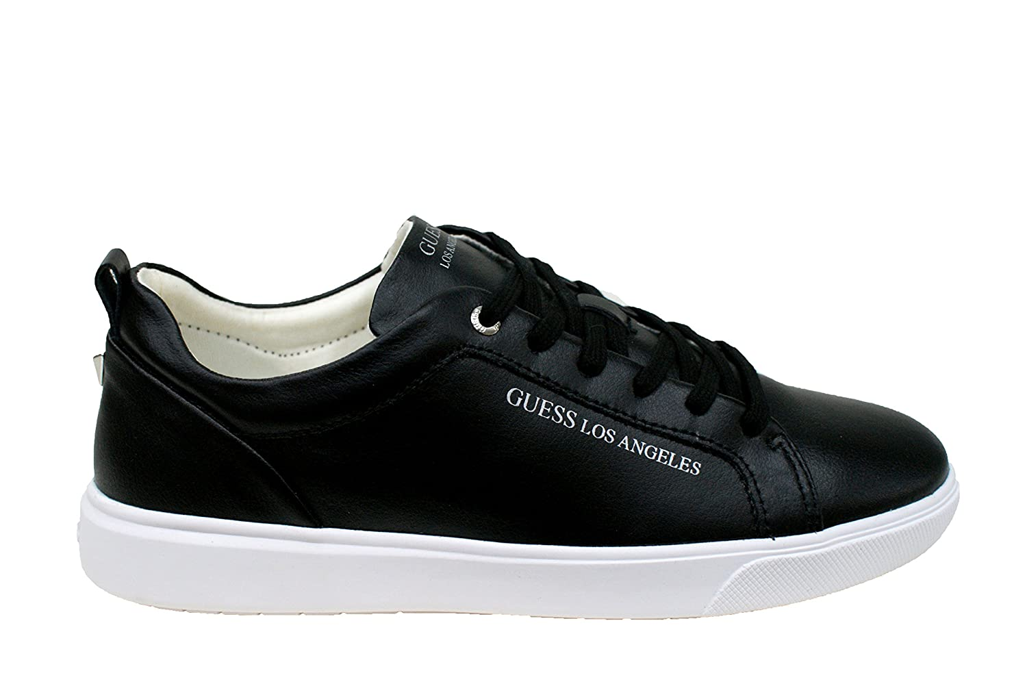 Guess Sneaker Uomo Kit Low Leather Active Black_44: Amazon