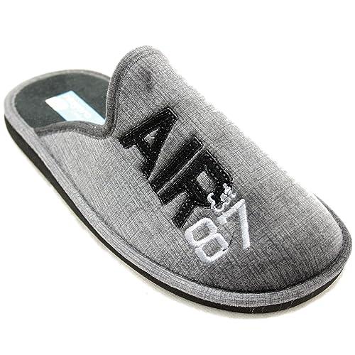 Niagara 6603 - Zapatillas de Estar por Casa Super Ligeras Grises con Texto Air 87: Amazon.es: Zapatos y complementos