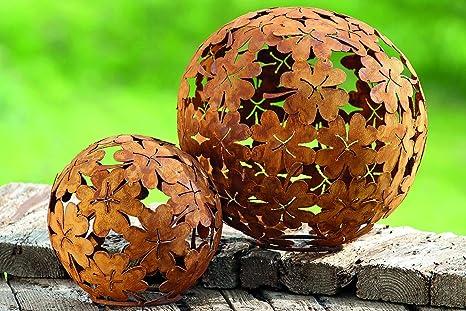 Decorazioni Da Giardino In Metallo : Palla trifoglio ferro metallo ruggine sfera decorativa con