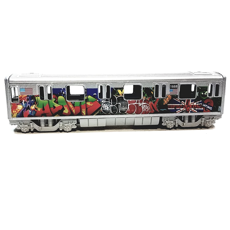 Metro NYC New York City 7 Train Latinos Tag Graffiti Retro Subway Car 1//100 Scale Diecast