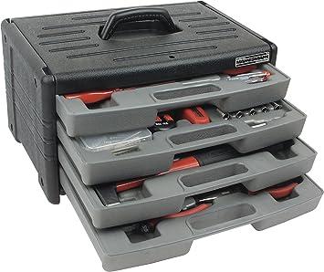 Mannesmann - M29068 - Caja de herramienta de plástico con 4 cajones, 60 piezas: Amazon.es: Bricolaje y herramientas