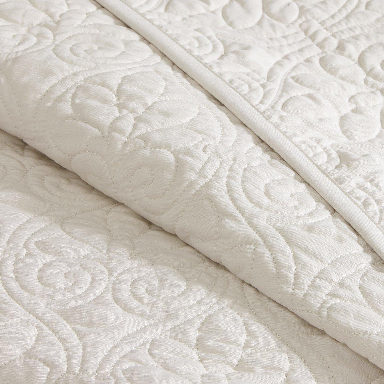 Madison Park Quebec 3 Piece Bedspread Set, King, Ivory: Amazon.ca: Home U0026  Kitchen