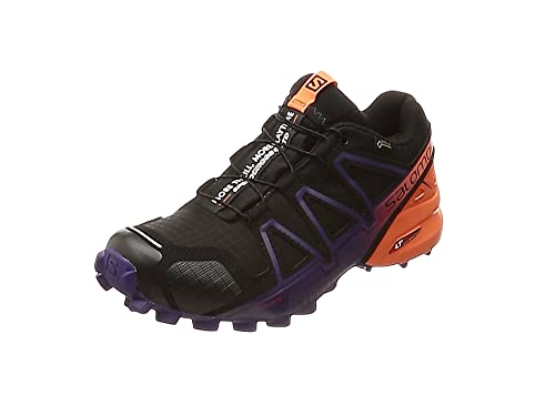 Salomon Speedcross 4 GTX Ltd W, Zapatillas de Trail Running para Mujer, Negro (Black/Nasturtium/Parachute Purple 000), 36 EU: Amazon.es: Zapatos y complementos