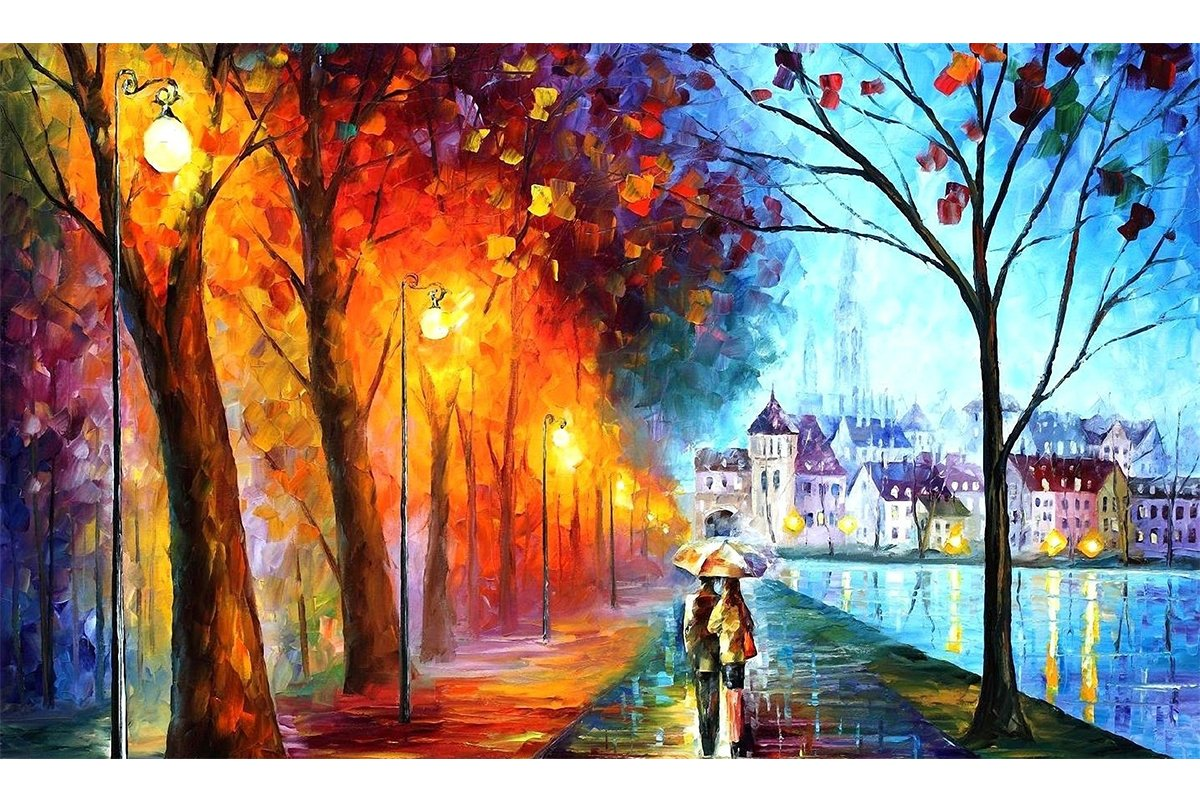 Blxecky 5D DIY Diamond Painting,by Number Kits Crafts & Sewing Cross Stitch,Wall Stickers for Living Room Decoration,Lovers(12X18inch/30X45CM)