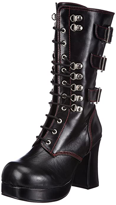 Demonia GOTHIKA-209 Damen Stiefel, Schwarz (Blk Vegan Leather), EU 37 (UK 4) (US 7)