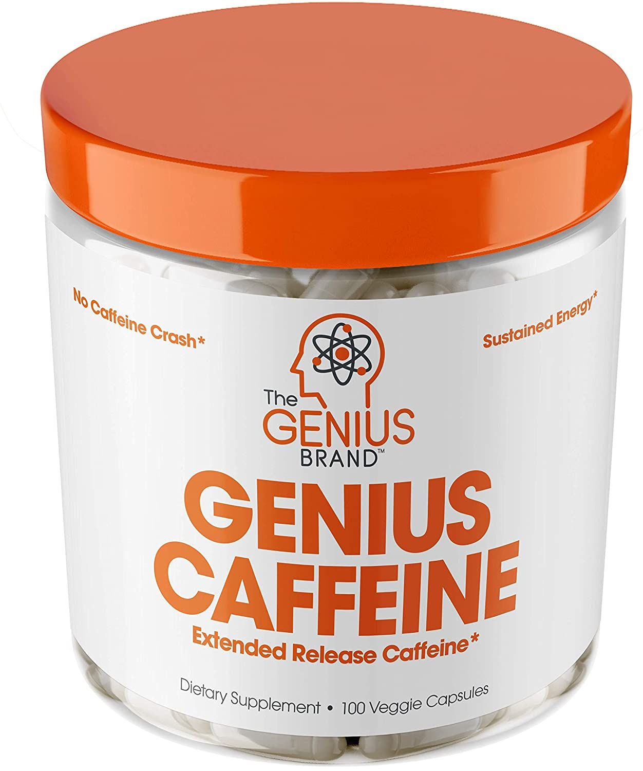 Genius Caffeine – Extended Release Microencapsulated Caffeine Pills, All  Natural Non-Crash