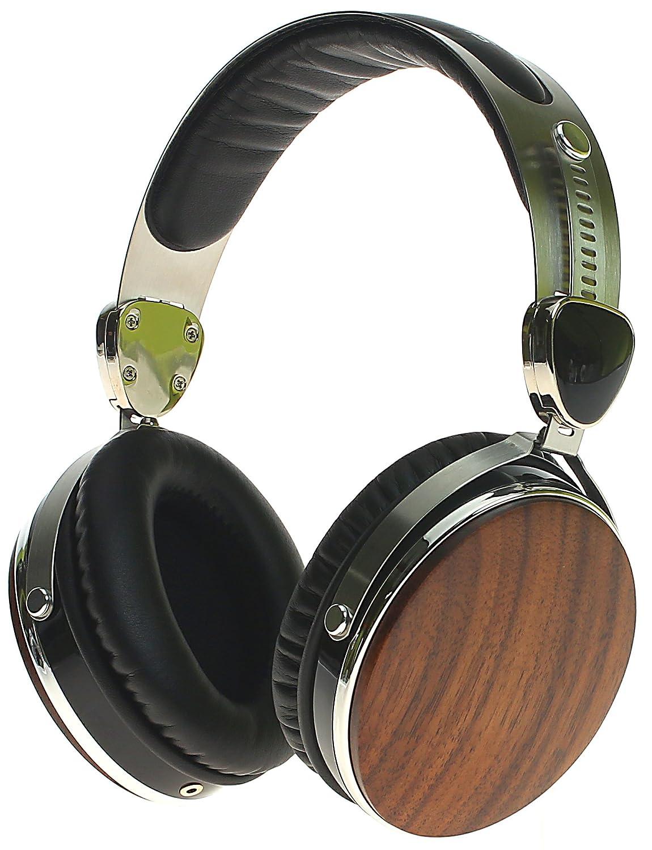 Auriculares con cable Symphonized | Auriculares aislantes del ruido sobre la oreja Wraith 2.0 Premium de madera auténtica con micrófono, ...