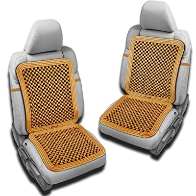 Zento Deals Pair Natural Beaded Convenient Massage Cushion: Automotive