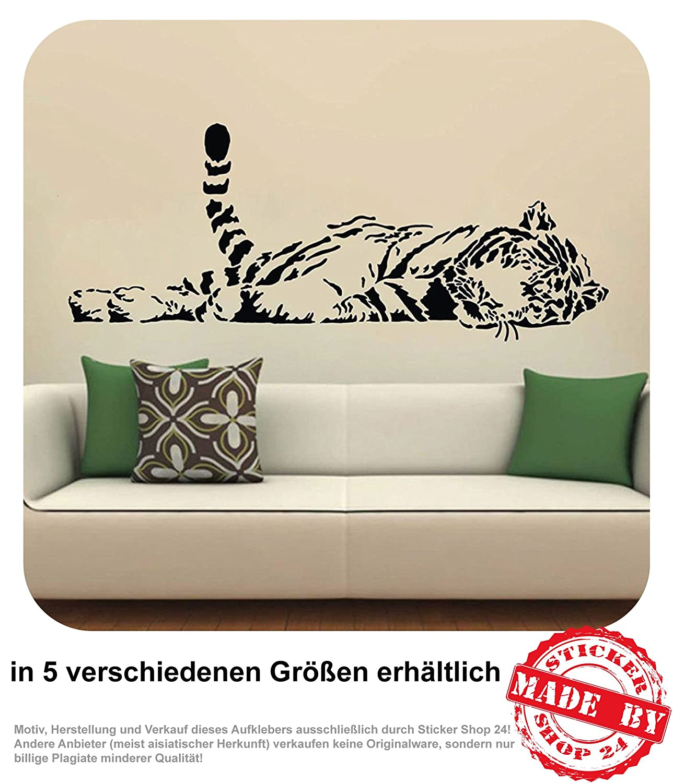 Wandtattoo Tiger Liegend Wohnzimmer Couch Sofa Wandaufkleber