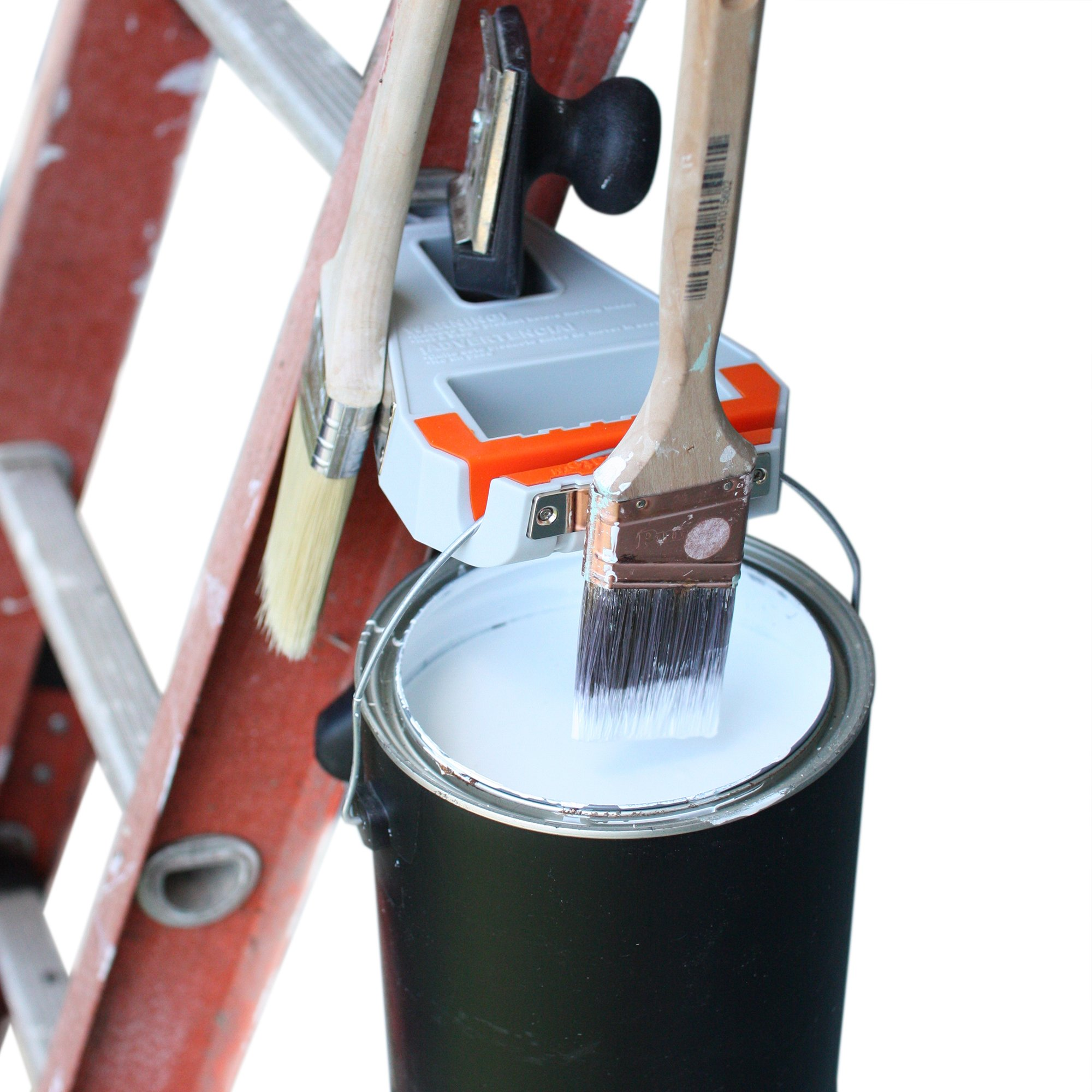 Ladder Station Pro - Paint Brush Holder and Paint Can Holder - Store Paint Brushes, Paint Scraper and Accessory Tools