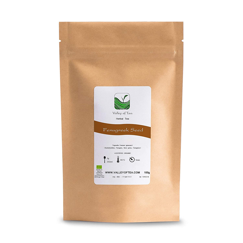 Fenogreco orgánico de calidad semillas - Calidad culinaria - Alholva o Trigonella Foenum-graecum - fenugreco Semilla - Fenugreek seed o Feno greco 100g: ...