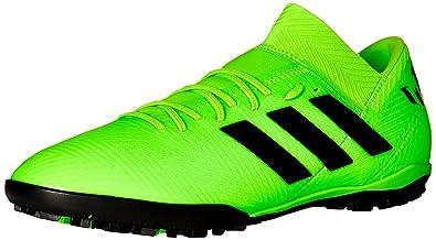 137b31173 adidas Men's Nemeziz Messi Tango 18.3 Turf Soccer Shoe, Black/Solar Green,  7.5