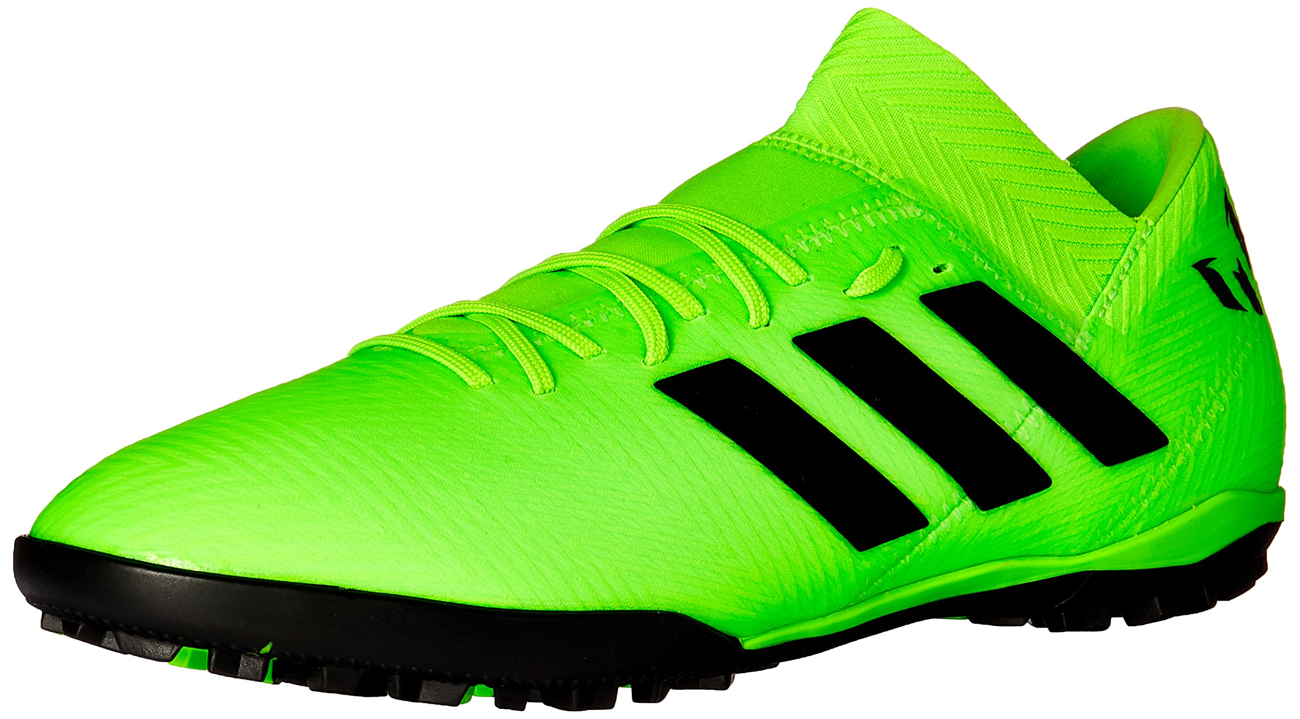 adidas Men's Nemeziz Messi Tango 18.3 Turf Soccer Shoe, Solar Green/Black/Solar Green, 10 M US