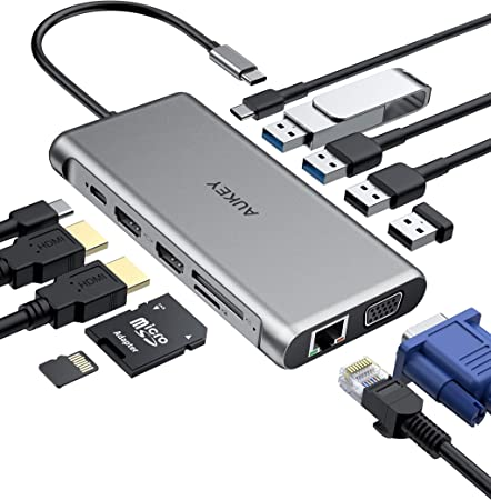 Hub USB Type-C HUB Adapter Slim Multi-Port Type-C to 4K HDMI USB 3.0 with Type-C Charger Port Converter for MacBook Pro for Google