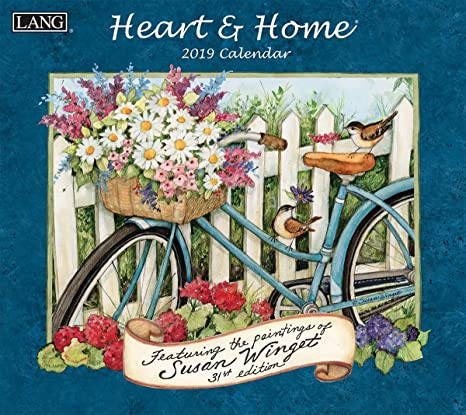 Calendar Home 2019 Amazon.: The LANG Companies Heart & Home 2019 Wall Calendar