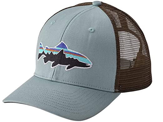 75e08d8d Patagonia Fitz Roy Trout LoPro Trucker Hat (Cadet Blue) at Amazon ...
