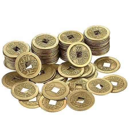 Hestya 1 Zoll Chinesische Glück Münzen Feng Shui I Ching Münzen