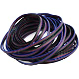 JACKYLED RGB Cable 4 pins Extension cord Cable for 5050 LED Light Strip 10m 32.8ft LED Splitter connectors kit 4 Color
